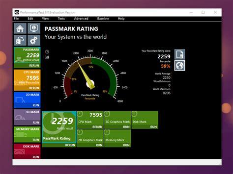 bench mark test passmark performance test download chip