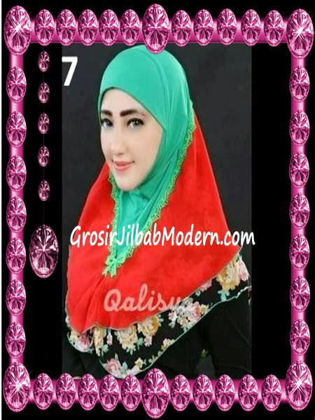 Jilbab Instan Qalisya jilbab syria kombinasi cantik ahza by qalisya no 7 grosir jilbab modern jilbab cantik jilbab