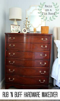 master bedroom makeover series: rub 'n buff hardware makeover