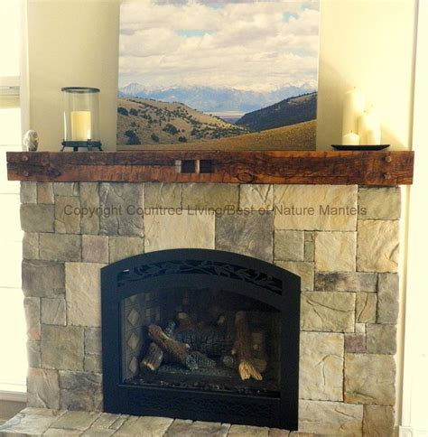 Reclaimed Wood Mantel Wood Fireplace Mantel Rustic Reclaimed Wood For Fireplace Mantel