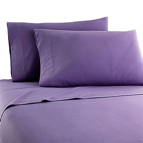 bed bath and beyond flannel sheets buy micro flannel 174 solid twin sheet set in plum from bed