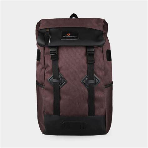 Tas Travel Travel Backpack tas backpack travel skyscrapper brown