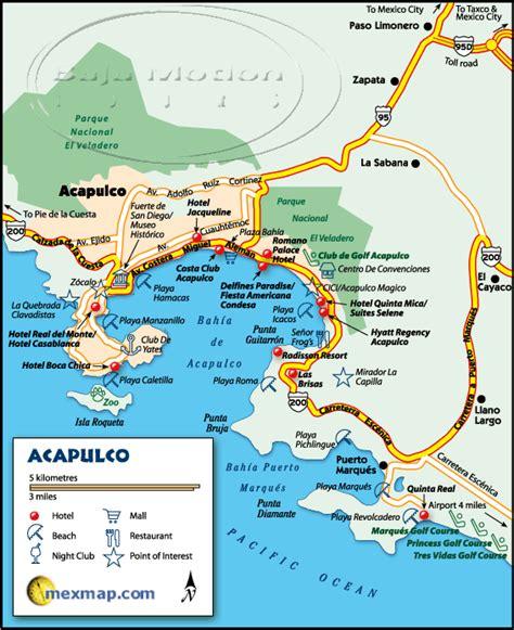 map of mexico acapulco acapulco mexico maps baja mexico maps