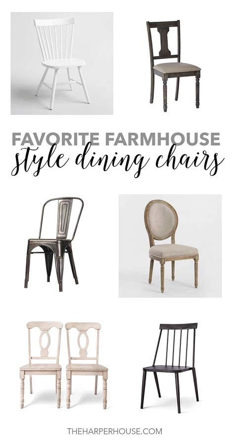 Farm Style Dining Chairs Favorite Farmhouse Style Dining Chairs The House