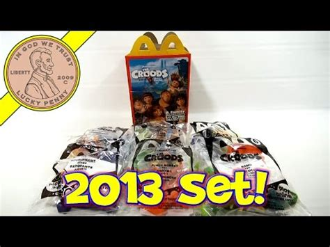 mcdonald's 2013 the croods movie happy meal set youtube