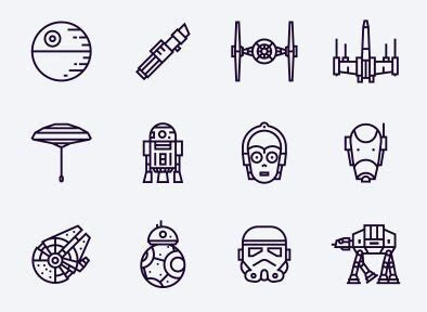 free 12 star wars vector icons titanui