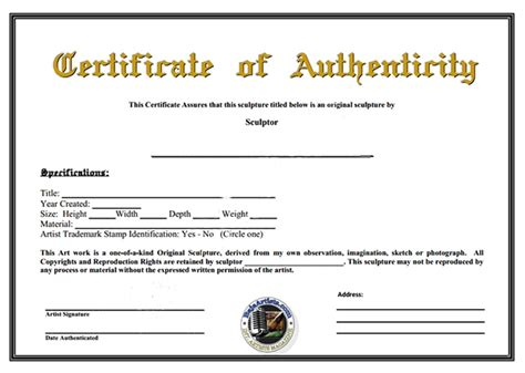 certificates of authenticity templates certificate of authenticity template peerpex