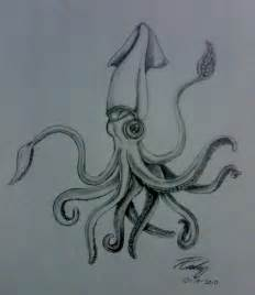 squid tattoo drawing request by evilforestpixley on deviantart