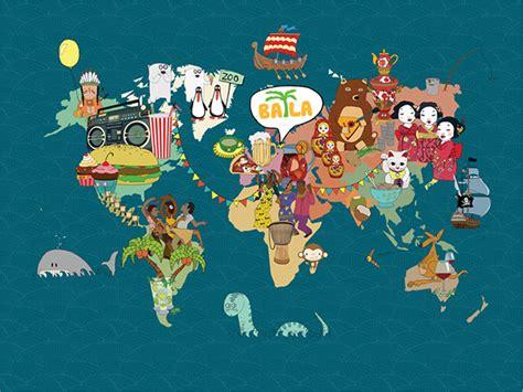 world map illustration 2 illustrated world map on behance