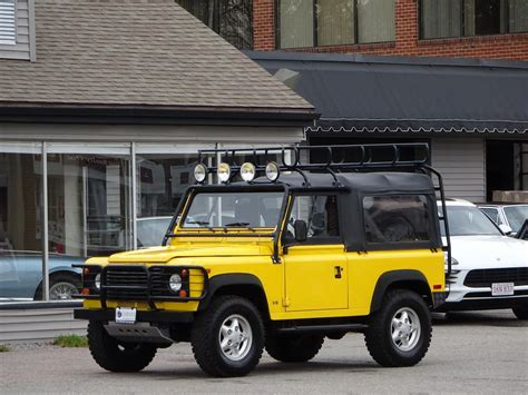land rover defender 90 yellow 1997 land rover defender 90 convertible copley motorcars