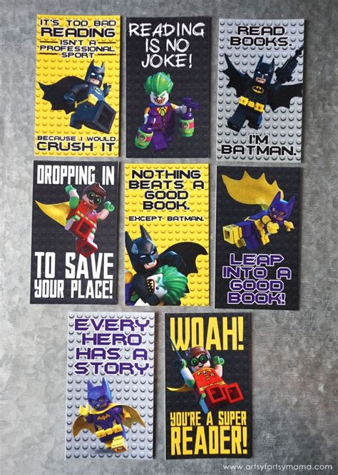 printable batman bookmarks free printable lego batman bookmarks the lego lego