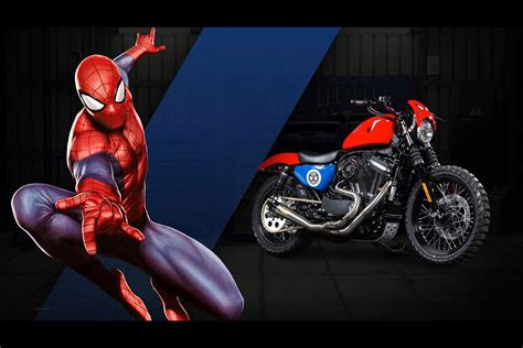Custom Marvel Heroes harley davidson designs 27 custom motorcycles for marvel