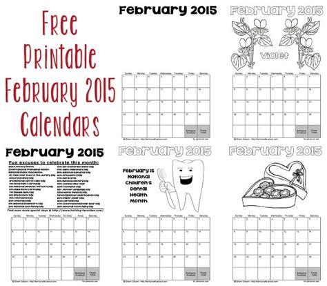 free calendar template february 2015 printable february 2015 calendars favorites