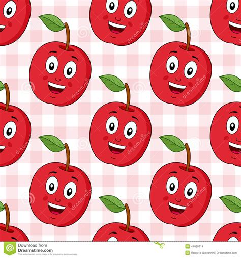 wallpaper for apple cartoons cartoon red apple seamless pattern stock vector image