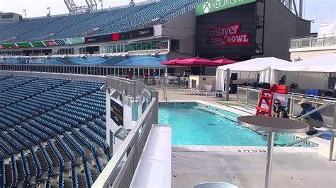 jacksonville jaguars stadium pool pool and clevelander area at everbank field