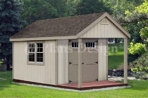 garden shed  porch plans cabin loft backyard