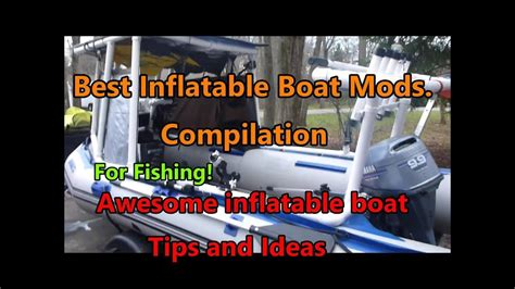 inflatable boat fishing tips inflatable fishing boat tips and mods for fishing youtube