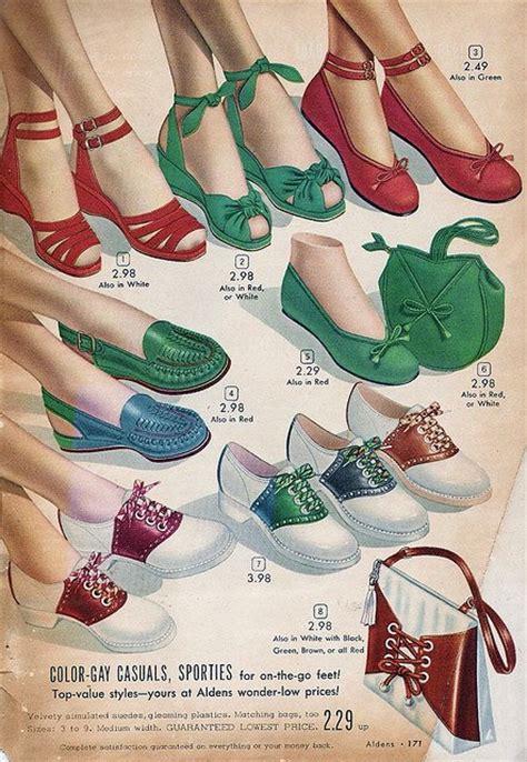Flat Shoes Vintage Ad F02 Murahmodis 1940s shoes vintage ads