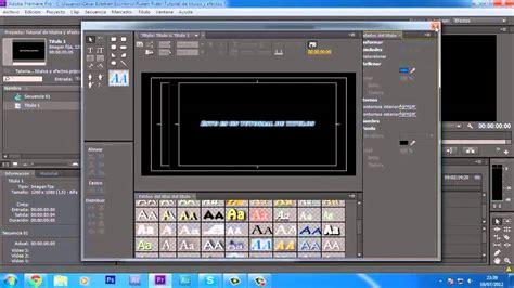 tutorial de adobe premiere cs6 tutorial b 225 sico premiere pro cs6 t 237 tulos con efectos hd