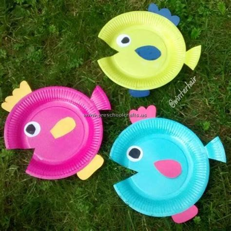 fish crafts for fish crafts ideas paper plate preschool crafts