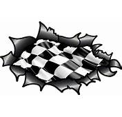 Ripped Torn Carbon Fibre Fiber Design With Chequered