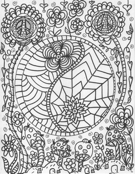 coloring pages for adults peace 105 best images about lets color on pinterest trippy