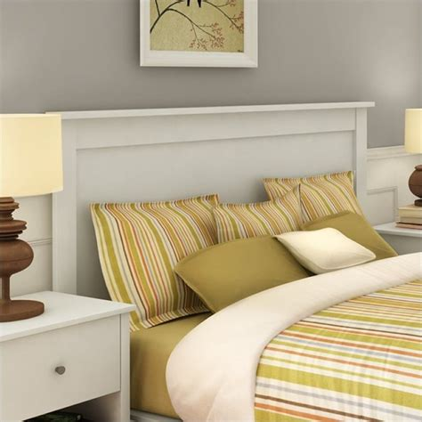 full headboard white south shore breakwater full queen panel headboard in