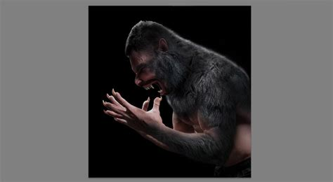 werewolf tutorial photoshop how to create a howling werewolf photo manipulation in