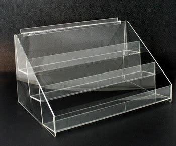 Plastic Display Shelf by Acrylic Slatwall 3 Tier Display Shelf Holder Rack