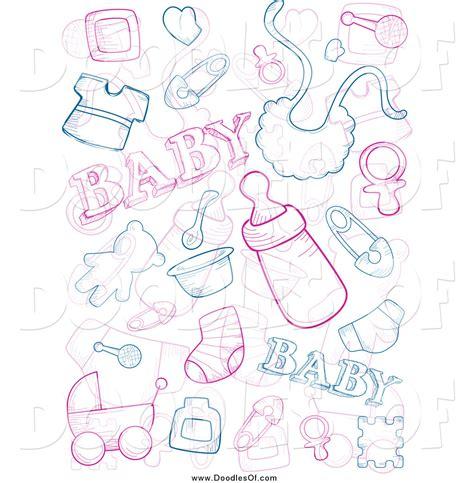 vector clipart of baby doodles by bnp design studio 1074