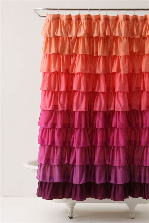 using curtains for shower curtain it s written on the wall tutorial anthropologie ruffled
