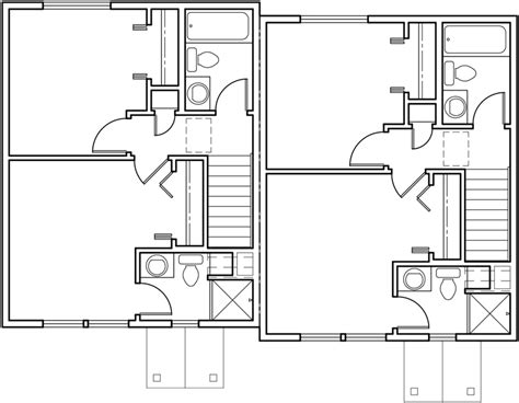 Duplex House Plans Small Duplex House Plans D 339 Duplex House Plans With 2 Car Garage