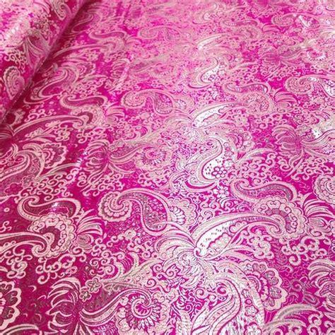40486 Brocade Lace Knit fuchsia silver paisley brocade fabric fabric wholesale direct
