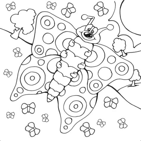 caterpillar and butterfly 2 coloring page supercoloring com hungry caterpillar butterfly coloring page kids coloring