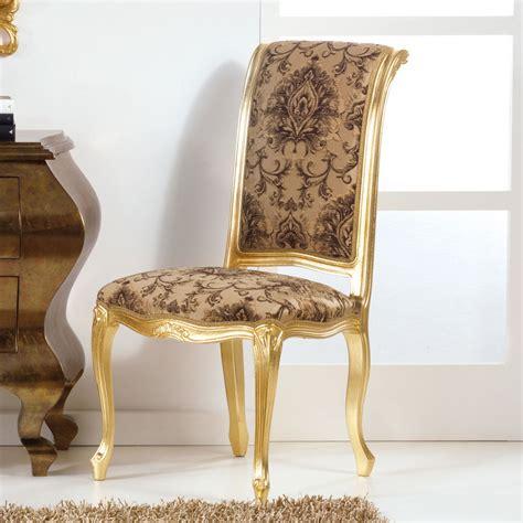 sedie in stile classico sedia in legno dallo stile classico con gambe foglia oro