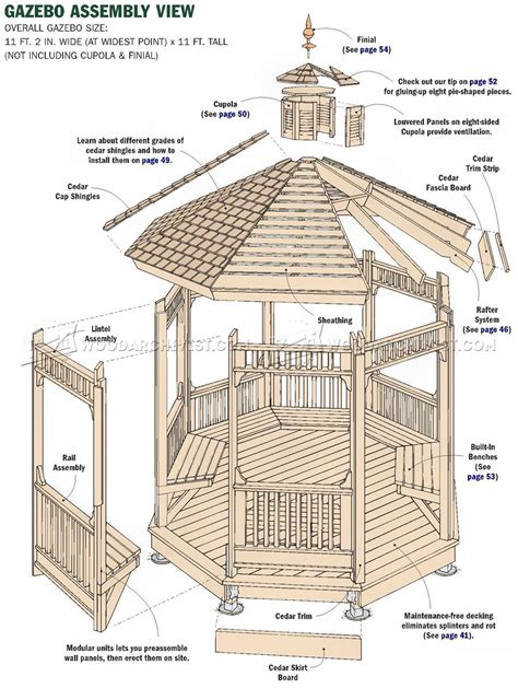 gazebo blueprints garden gazebo plans woodarchivist