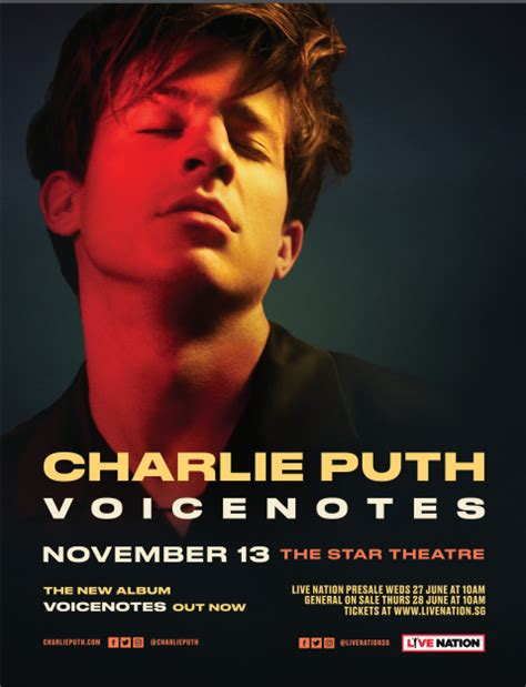 charlie puth live charlie puth voicenotes live in singapore the star pac