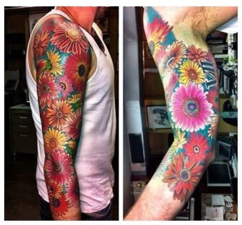 flower tattoos for men sleeves ideas flower sleeve tattoofanblog