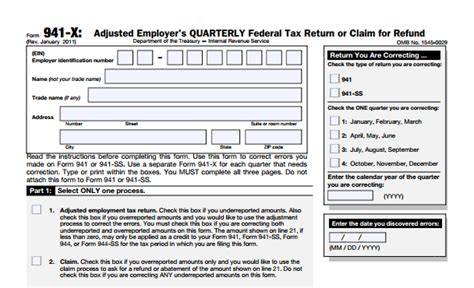 Tax Credit Form Late irs form 941 payroll taxes errors late payroll taxes