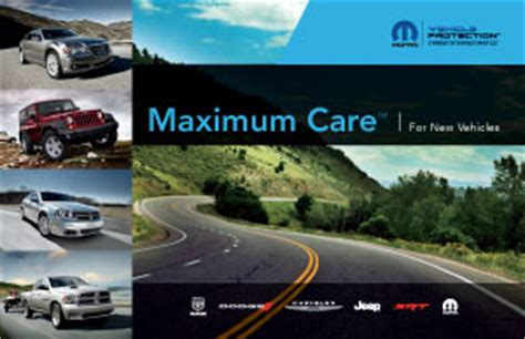 mopar maximum care coverage chrysler owner info on warranties recalls and more