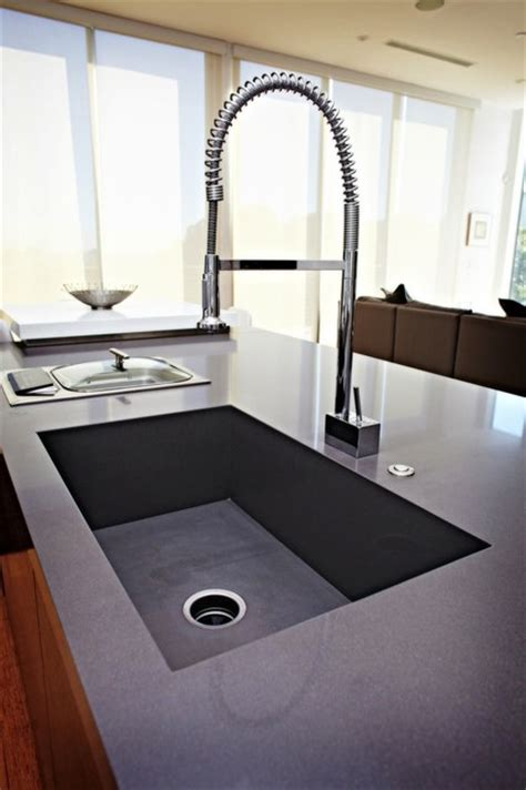 concrete countertop with integrated sink caesarstone quartz concrete countertop integrated sink