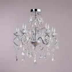 glass chandelier uk vara 5 light bathroom chandelier chrome