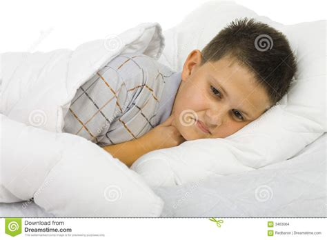 sick in bed sick boy in bed stock photo image of illness patient