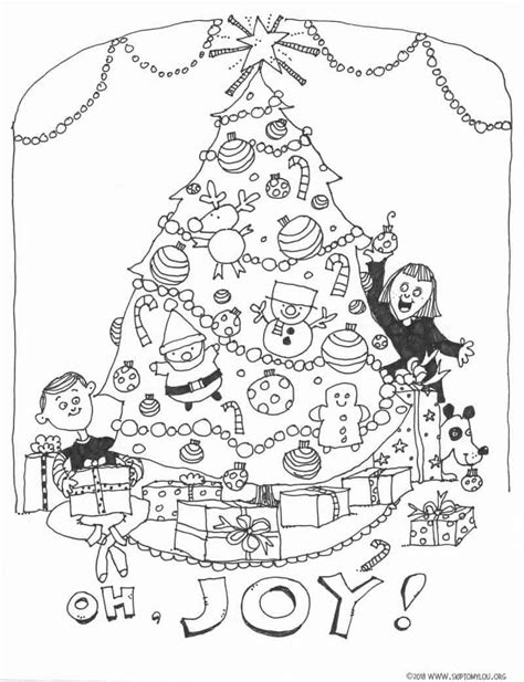 cutest christmas coloring pages skip   lou