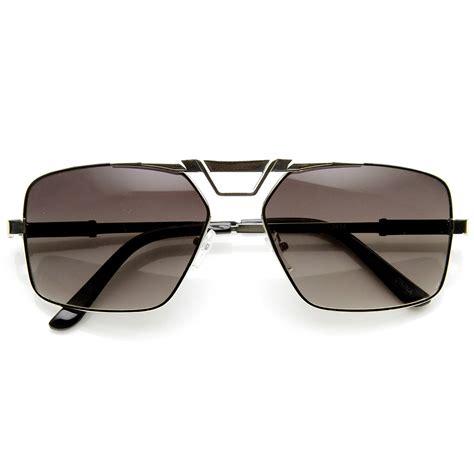 Metal Aviator Sunglasses modern fashion metal square frame aviator sunglasses ebay