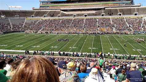 section 8 and 15 notre dame stadium section 8 rateyourseats com