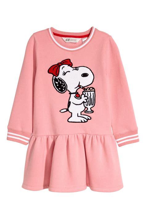 Uq Hm Set Snoopy sweatshirt dress with motif pink snoopy sale h m us