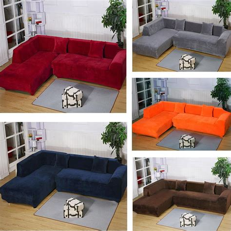 l shaped sofa covers 2seats 3seats plush stretch sure fit l shaped sectional