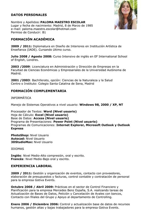 Modelo Curriculum Usa Modelo Curriculum Auto Design Tech