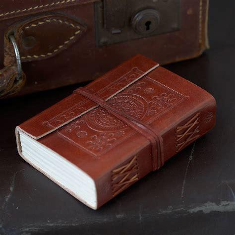 Handmade Leather Embossed Journals - handmade embossed leather journals by paper high